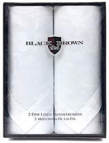 Black Brown 1826 Two-Pack Fine Linen Handkerchiefs