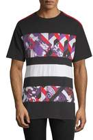 Versace Men's Paneled Graphic Tee