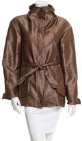 Oscar de la Renta Long Sleeve Belted Jacket