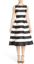 Adrianna Papell Stripe Mikado Midi Dress (Regular & Petite)