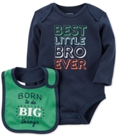 Carter's 2-Pc. Best Little Bro Cotton Bodysuit & Bib Set, Baby Boys (0-24 months)