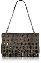 Class Roberto Cavalli Obsession Treasure Medium Animal Print Eco Leather Shoulder Bag w/Crystals