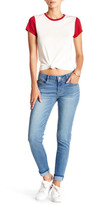 Jolt Light Wash Rolled Skinny Jean