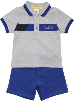 HUGO BOSS Cotton Pique Polo Shirt & Shorts