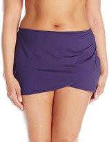Anne Cole Women's Plus-Size Sarong Bikini Bottom