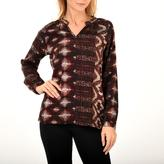 Point Zero Long Sleeve Round Neck Blouse with Aztec Design