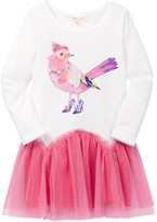 Baby Sara Fancy Bird Drop Waist Dress (Baby & Toddler Girls)