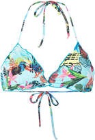 Ermanno Scervino tropical print bikini top
