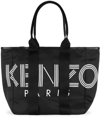 Kenzo Black logo nylon tote