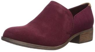 Toms Women's Shaye Ankle Boot Raisin Suede/Heritage Canvas 8 Medium US
