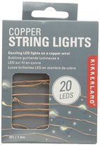 Kikkerland Copper String Lights Battery Operated