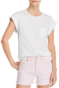 7 For All Mankind Cotton Cuffed Tee