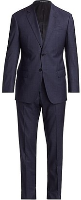 Emporio Armani Plaid Virgin Wool Suit