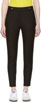 Courreges Black Button Belt Trousers