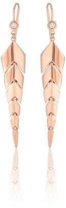 Jacquie Aiche Fishtail 14kt rose-gold drop earrings