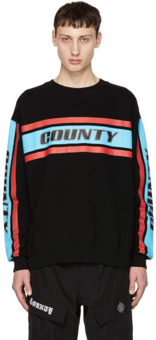 Marcelo Burlon County of Milan Black Color Band County Sweatshirt
