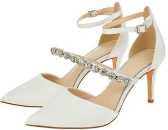 Monsoon Vixie Embellished Bridal Court Shoes Ivory