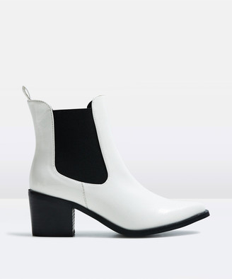 Alice In The Eve The Alexa Patent Ankle Boot White