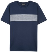 A.p.c. Lagon Navy Cotton T-shirt