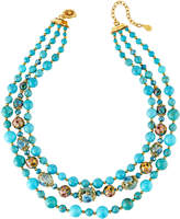 Jose & Maria Barrera 3-Strand Bead Necklace, Turquoise