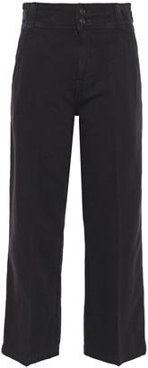 Current/Elliott Cotton And Linen-blend Canvas Straight-leg Pants