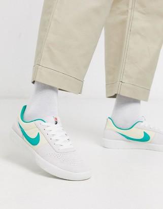Nike Sb SB Team Classic trainers in off white/green