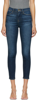 Frame Indigo Cropped Le High Skinny Jeans