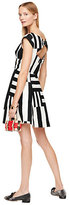 Kate Spade Multi stripe kite bow back dress