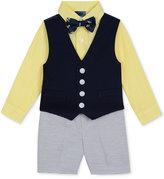 Nautica 4-Pc. Shirt, Vest, Shorts & Bow Tie Set, Toddler & Little Boys (2-7)
