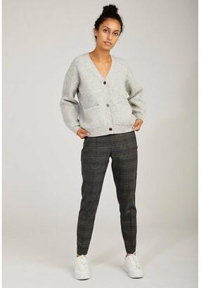 Naf Naf Chunky Knit Cardigan with V-Neck and Pockets