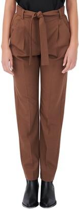 Maje Tie Waist Stretch Wool Trousers