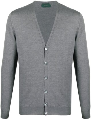 Zanone Button-Up Knitted Cardigan