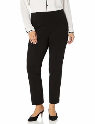 Slim Sation SLIM-SATION Women's Plus Size Side Elastic Waist Solid Heavy Weight Ponte Pant