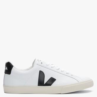 Veja Esplar Logo Extra White Black Leather Trainers