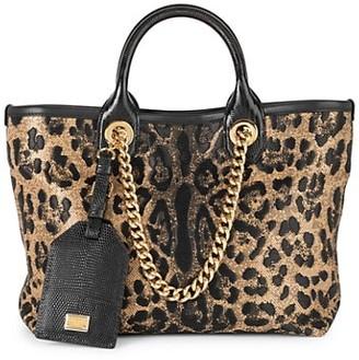 Dolce & Gabbana Small Capri Leopard-Print Shopper