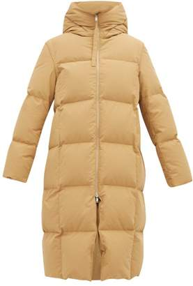 Jil Sander City Hooded Padded Coat - Womens - Dark Beige