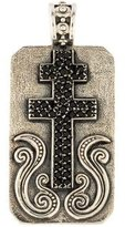 Konstantino Black Spinel Cross Pendant