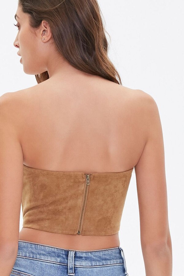 Thumbnail for your product : Forever 21 Faux Suede Bustier Tube Top