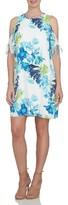 CeCe Women's Cold Shoulder Floral Shift Dress