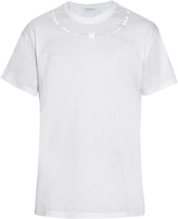 Givenchy Columbian-fit barbed-wire embroidered T-shirt