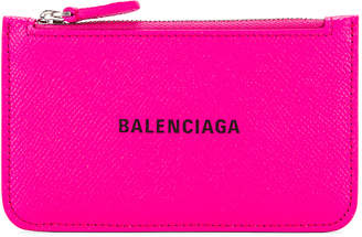 Balenciaga Long Cash & Coin Wallet in Acid Fuchsia & Black | FWRD