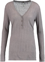 Soyer Ribbed linen, cashmere and silk-blend top