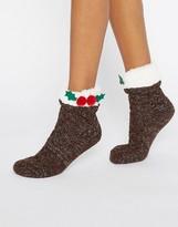 Asos Holidays Pudding Lounge Socks