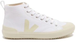 Veja Nova V-logo Organic-canvas High-top Trainers - White