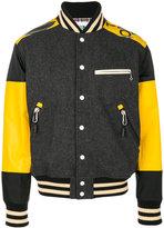 Junya Watanabe Comme Des Garçons Man - bicolour bomber jacket - men - Leather/Nylon/Polyester/PVC - S