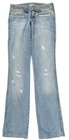 Blumarine Distressed Embellished Jeans