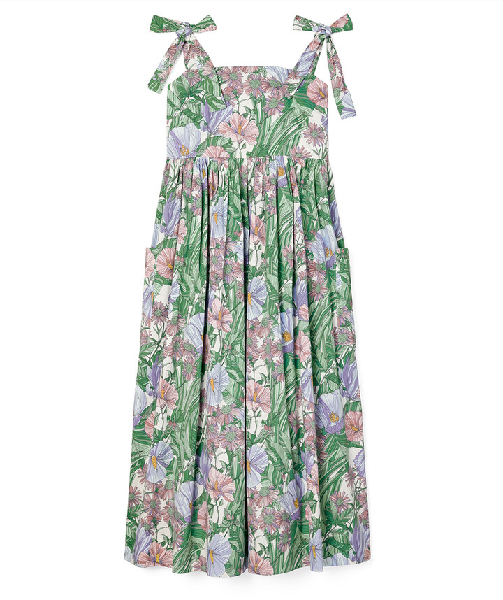 Thumbnail for your product : Tory Burch Tie-Shoulder Floral Coverup Dress