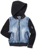 Urban Republic Boys 8-20) Mixed Media Hooded Denim Jacket