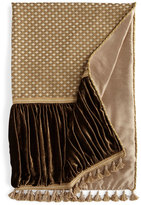 Dian Austin Couture Home Pieced Gatsby Throw with Ruched Velvet Sides