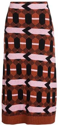 Prada Intarsia Knit Midi Skirt